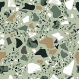 Set of Beautiful Terrazzo Seamless Pattern : Vector Illustration - 190063924