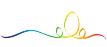 Calligraphy Colorful Rainbow E...