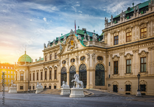 Photo sur Toile Europe Centrale Belvedere Palace, Vienna, Austria.