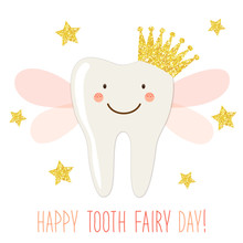 Cute Tooth Fairy Day Greeting ...