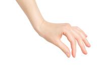 Closeup Female Hand Making Pic...
