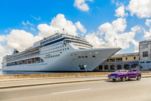 Big Cruise Ship Docked In Port...