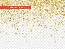 Gold Sequins Texture Isolated ...