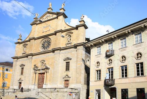 The historic La Collegiata Church in Bellinzona, Tessin, Switzerland