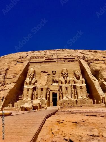 Obraz na plátně Abu Simbel Temples . Ancient Egypt . Egypt