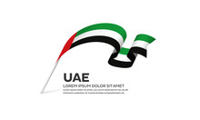 United Arab Emirates Flag Back...