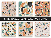 Six Seamless Terrazzo Patterns...