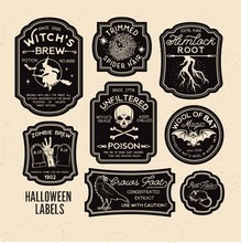 Halloween Bottle Labels Potion...