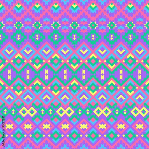 Foto auf AluDibond Boho-Stil Seamless geometric pattern with ethnic motifs.