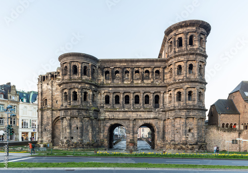 Canvas Prints Artistic monument Famous Porta Nigra in Trier, Rheinland-Pfalz, Germany