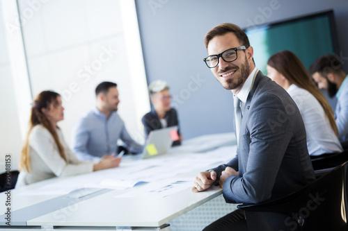 Obraz Business people conference in modern office - fototapety do salonu