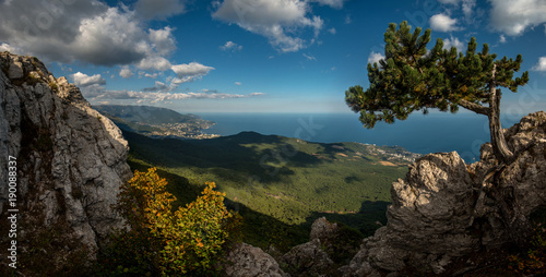 In de dag Groen blauw Beauty nature landscape Crimea