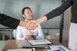 Business Team Partnership Greeting Handshake Concept