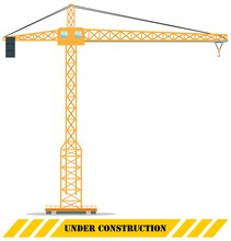 Building Tower Crane. Heavy Co...