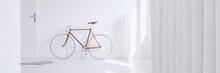 Red Vintage Bike In Apartment
