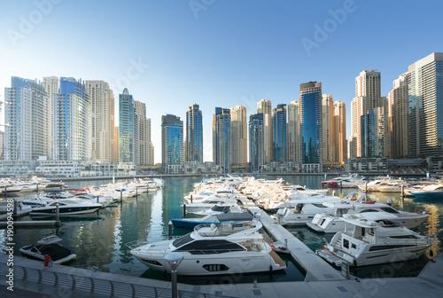 Photo  Dubai Marina at sunset, United Arab Emirates