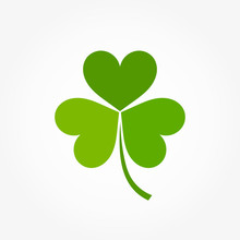 Green Clover Leaf Icon