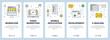 Vector modern thin line workflow concept web banner set