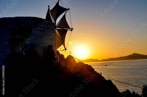 Fototapety, obrazy: sunset on patmos island