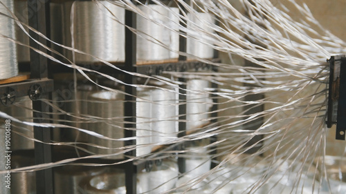 Producing fiberglass rods - manufacture of composite reinforcement, industry for Wallpaper Mural