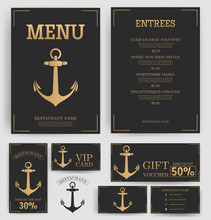 Restaurant Menu Template. Eleg...