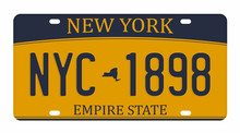 License Plate Isolated On Whit...