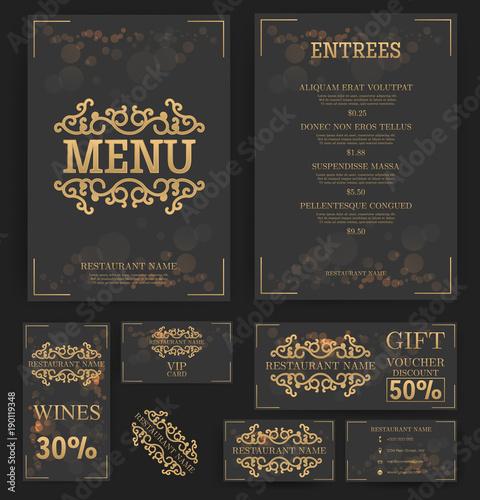 Restaurant menu template elegant design food flyer business card restaurant menu template elegant design food flyer business card vector cheaphphosting Choice Image