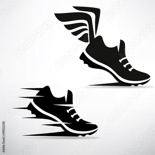 sneaker stylized vector symbol set Obraz na płótnie