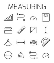 Measuirng Related Vector Icon ...