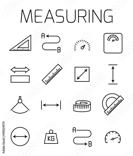 Measuirng related vector icon set. Fototapeta