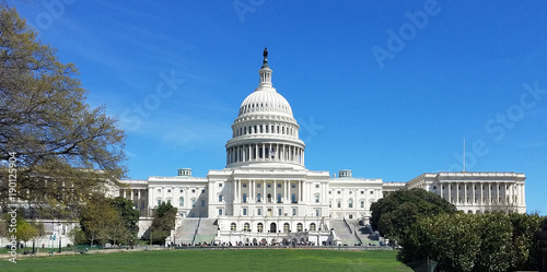 Spoed Fotobehang Centraal-Amerika Landen United States Capitol Building, on Capitol Hill in Washington DC, USA.