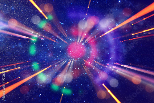 Photo  Abstract lens flare
