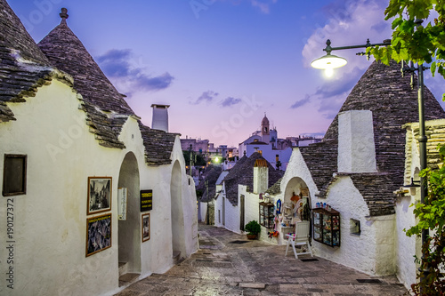 Alley between the Trulli of Alberobello, Puglia, Italy Canvas Print