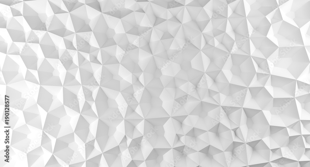 3D Rendering Of Abstract Shapes Low Poly Background