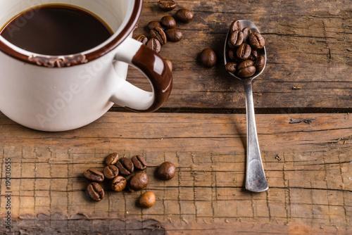 Papiers peints Café en grains a cup of coffee