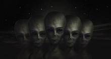 Alien, 3d Illustration, UFO, Z...