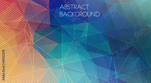 Flat polygonal background