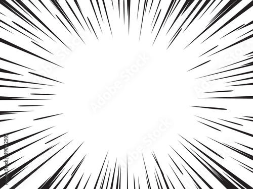 Radial speed lines for comic books. Explosion background. - 190132505