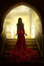 Elegant Woman Silhouette In Lo...