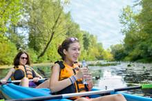 Family Kayaking Sport, Mother ...