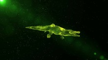 Green Crocodile, Abstract Rept...