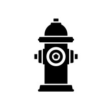 Fire Hydrant Icon. Black, Mini...