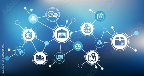 aspekty-nowoczesnych-procesow-logistycznych-firmy-wektor