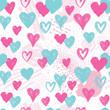 Heart seamless pattern. Holiday background. Valentine day decor