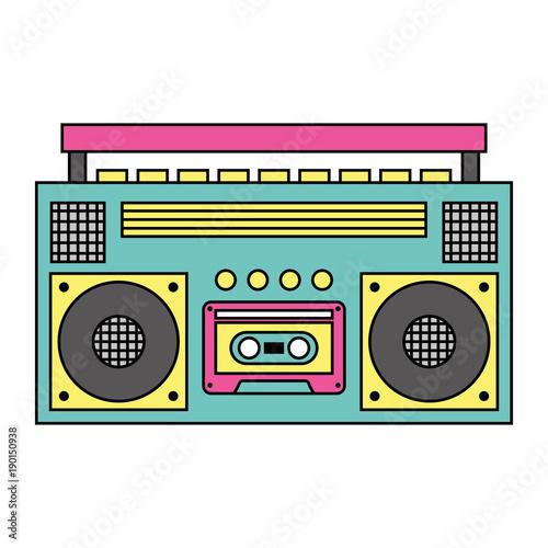 Photo retro stereo cassette player music recorder