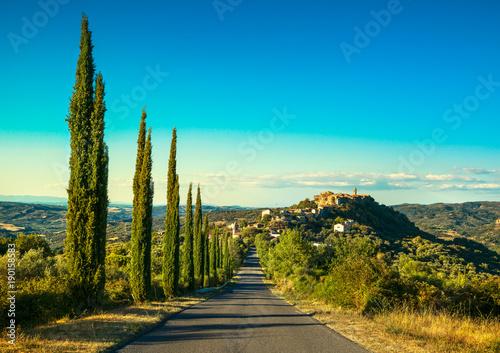 Tuscany, Montegiovi village. Monte Amiata, Grosseto, Italy