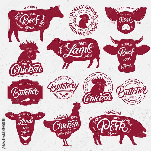 Fotografía  13 butchery logo, label, emblem, poster