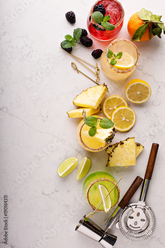Fotografía  Variety of margarita cocktails