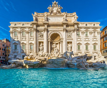 Rome, Trevi Fountain. Italy.