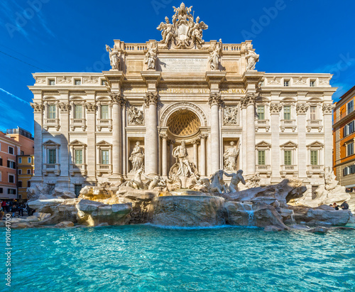 Rome, Trevi Fountain. Italy. Canvas Print